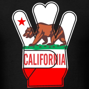 California Hand bear Star T-Shirts - Men's T-Shirt