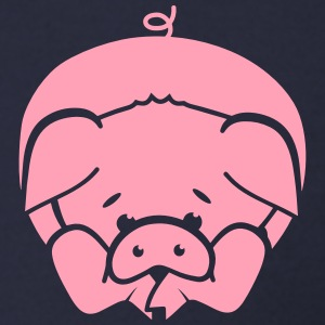 A little pig lying on the floor Zip Hoodies & Jackets - Men's Zip Hoodie