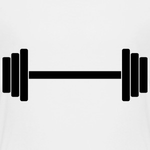 Gym Dumbbell Barbell Weight Athletics 1c Kids' Shirts - Kids' Premium T-Shirt