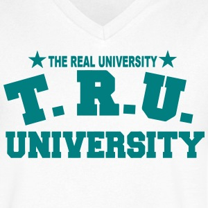 T.R.U.-THE REAL UNIVERSITY - Men's V-Neck T-Shirt by Canvas