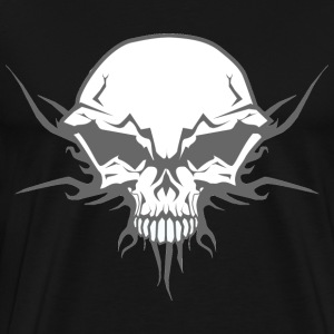 Tribal Skull hoodie - Men's Premium T-Shirt