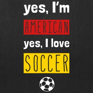 Yes I'm American Yes I Love Soccer Bags & backpacks - Tote Bag
