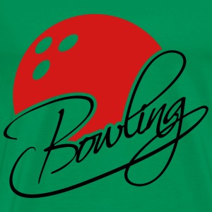 Bowling Text Logo Design T-Shirts - Men's Premium T-Shirt