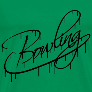 Bowling Text Logo Graffiti Design T-Shirts - Men's Premium T-Shirt