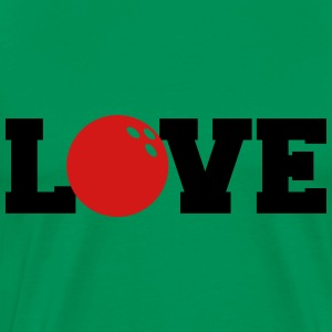 Bowling Ball I Love Bowling T-Shirts - Men's Premium T-Shirt
