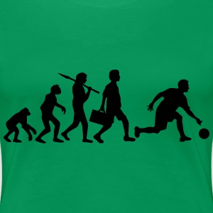 Evolution Of Bowling Women's T-Shirts - Women's Premium T-Shirt