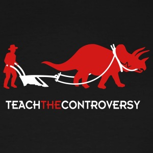 dino-Human Coexistence (Teach the Controversy) T-Shirts - Men's Tall T-Shirt