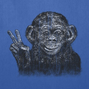 Peace Monkey - reTouchedTees Bags & backpacks - Tote Bag
