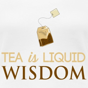 Tea is Liquid Wisdom Women's T-Shirts - Women's Premium T-Shirt