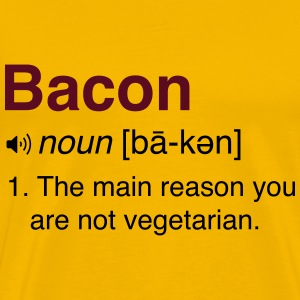 Bacon Definition T-Shirts - Men's Premium T-Shirt