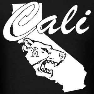CALI Bear Map T-Shirts - Men's T-Shirt