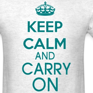 KEEP CALM AND CARRY ON T-Shirts - Men's T-Shirt