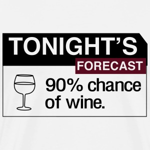 Tonights Forecast. Wine T-Shirts - Men's Premium T-Shirt