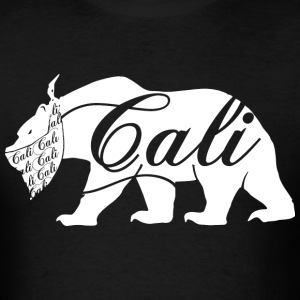 CALI Bandana White Bear T-Shirts - Men's T-Shirt