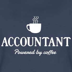 Accountant. Powered by coffee Women's T-Shirts - Women's Premium T-Shirt