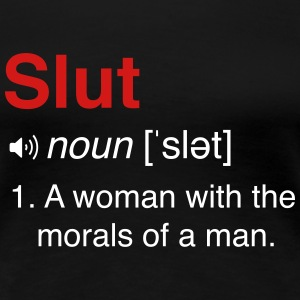 Slut Definition Women's T-Shirts - Women's Premium T-Shirt