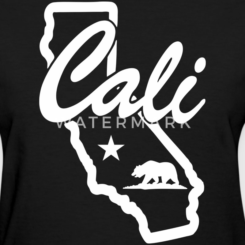 CALI Bear Map Women's T-Shirts - Women's T-Shirt