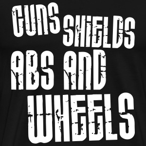 Guns, Shields, Abs, and Wheels T-Shirts - Men's Premium T-Shirt