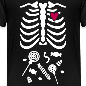 Ribcage with Candy Belly Kids' Shirts - Kids' Premium T-Shirt