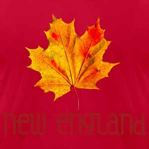 Autumn New England Leaf T-Shirts - Men's T-Shirt by American Apparel