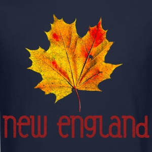 Autumn New England Leaf Long Sleeve Shirts - Crewneck Sweatshirt