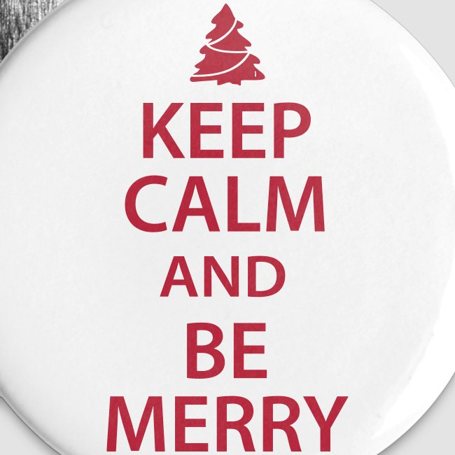 keep calm and be merry christmas buttons - Christmas Buttons