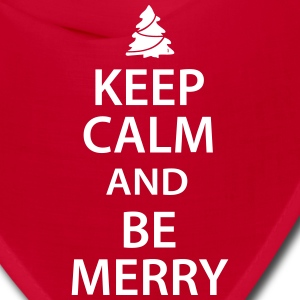 Keep Calm and Be Merry Christmas Caps - Bandana