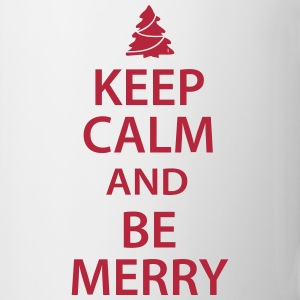 Keep Calm and Be Merry Christmas Bottles & Mugs - Coffee/Tea Mug