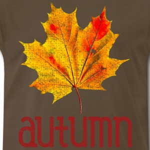 Old Vintage Autumn Leaf T-Shirts - Men's Premium T-Shirt