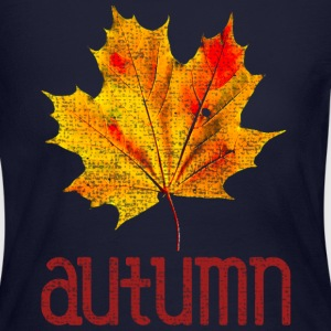 Old Vintage Autumn Leaf Long Sleeve Shirts - Women's Long Sleeve Jersey T-Shirt
