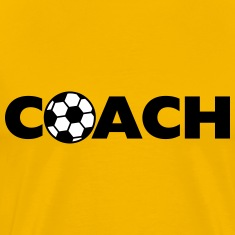 Soccer Ball Coach Logo Design T-Shirts