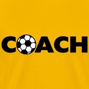 Soccer Ball Coach Logo Design T-Shirts - Men's Premium T-Shirt