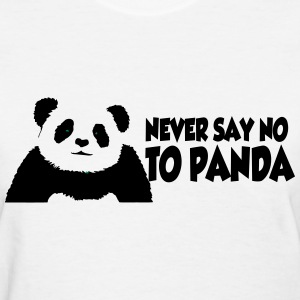 never_say_to_panda2 Women's T-Shirts - Women's T-Shirt