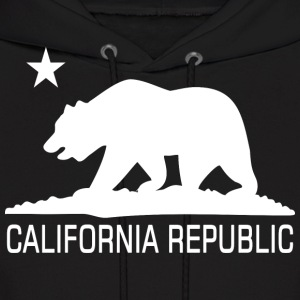 CALI Republic White Bear Hoodies - Men's Hoodie