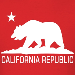 CALI Republic White Bear T-Shirts - Men's T-Shirt