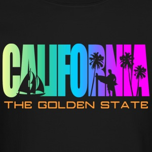 California Beach Golden State Long Sleeve Shirts - Crewneck Sweatshirt