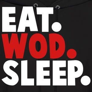 eat wod sleep Hoodies - Men's Hoodie