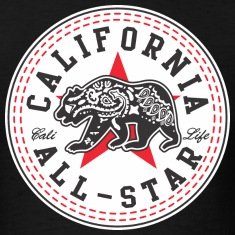 California Converse Black and Red T-Shirts