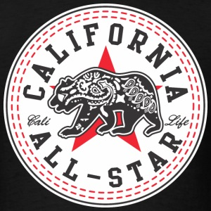 California Converse Black and Red T-Shirts - Men's T-Shirt