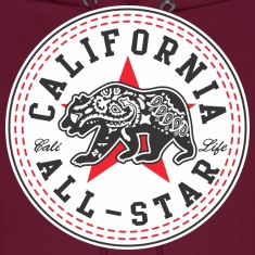 California Converse Black and Red Hoodies