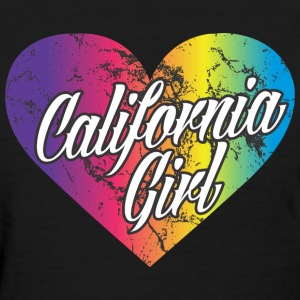 California Girl Heart Women's T-Shirts - Women's T-Shirt