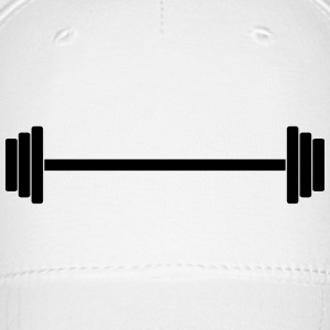 Gym Dumbbell (long) Barbell Weight Athletics 1c Caps - Baseball Cap