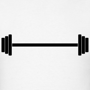 Gym Dumbbell (long) Barbell Weight Athletics 1c T-Shirts - Men's T-Shirt