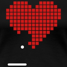Pixel Heart Game Nerd Love 2c Women's T-Shirts