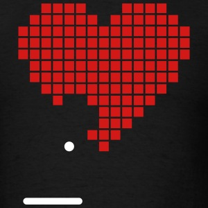Pixel Heart Game Nerd Love 2c T-Shirts - Men's T-Shirt