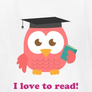 cute pink owl with square academic cap Kids' Shirts - Kids' T-Shirt