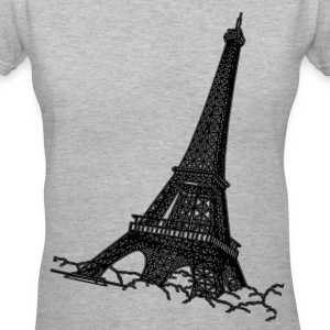 Eiffel Tower Women's T-Shirts - Women's V-Neck T-Shirt