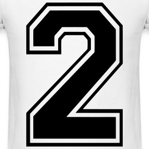 Number 2 T-Shirts - Men's T-Shirt