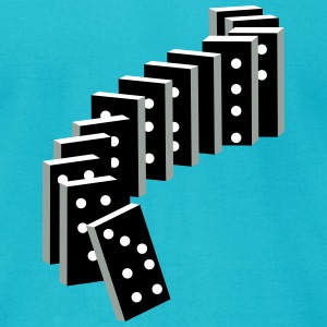 tile-based game with dominoes T-Shirts - Men's T-Shirt by American Apparel