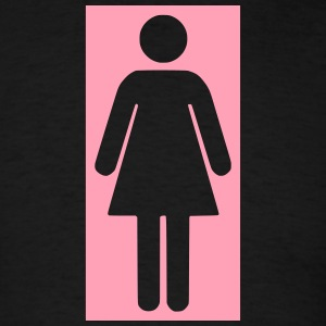 bathroom figure female .0_ T-Shirts - Men's T-Shirt